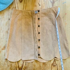Bagatelle leather mini skirt